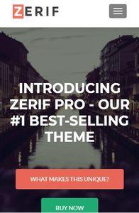 Zerif Pro on mobile