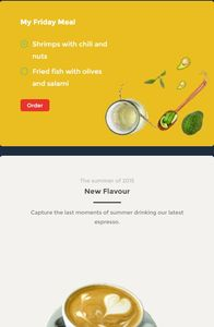 Food and Drink UI Kit on mobile