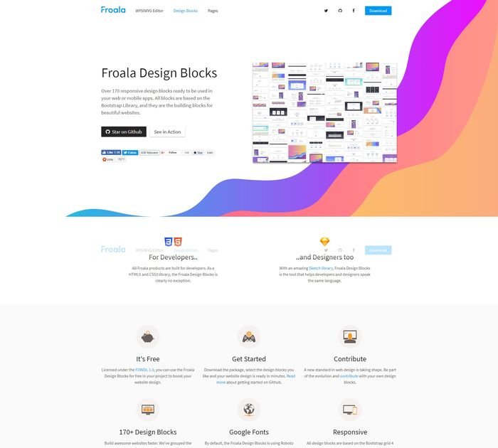 Froala Design Blocks