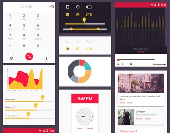 Material Mobile UI Kit view