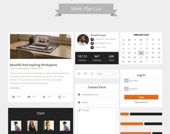Web Flat Gui view