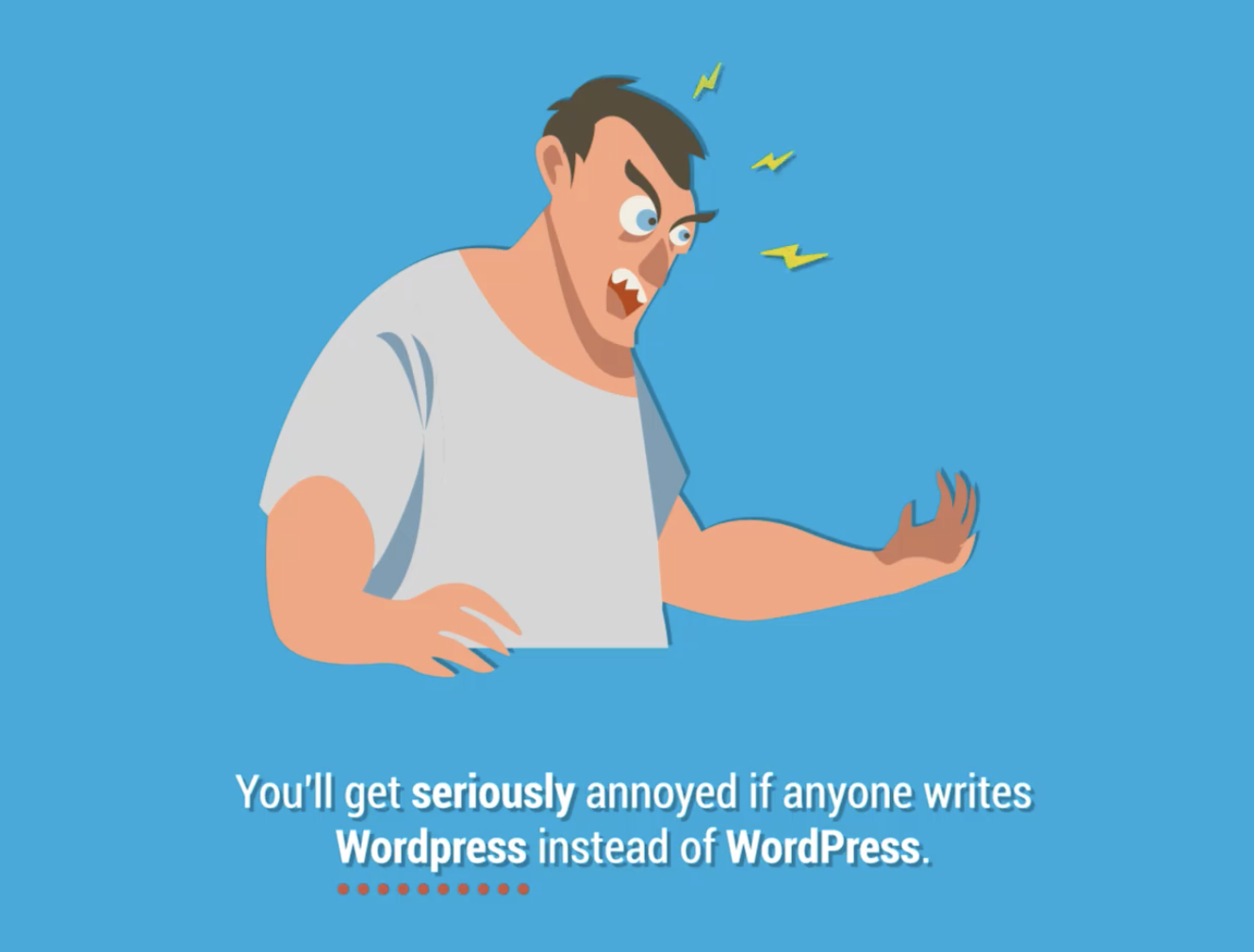 how to get text to start from top in wordpress