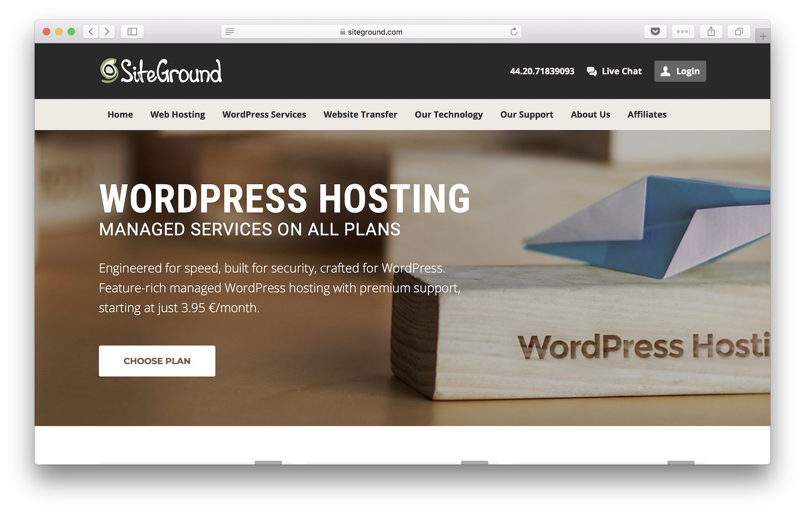 Shared vs managed WordPress hosting - example from SiteGround