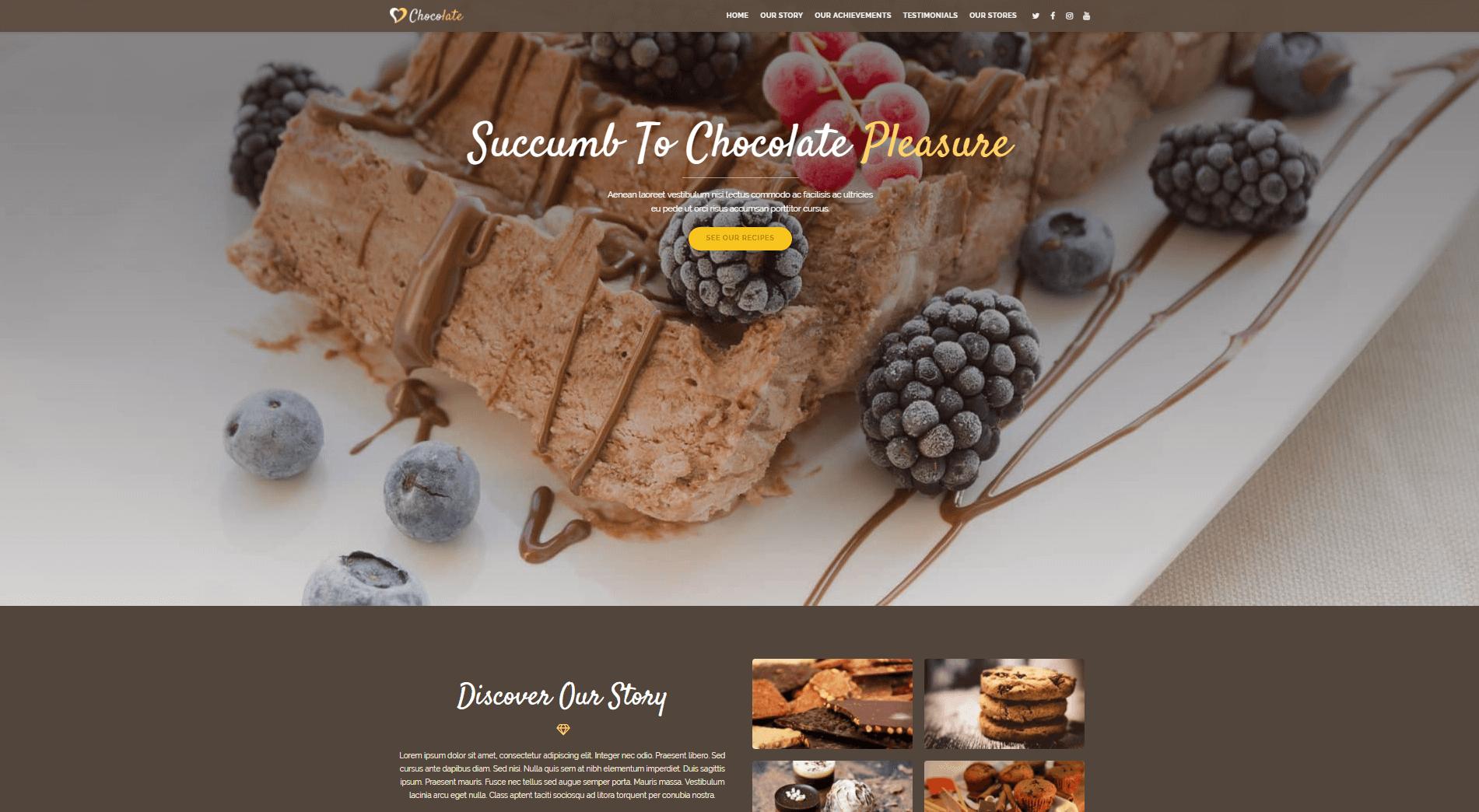 The OceanWP Chocolate demo.