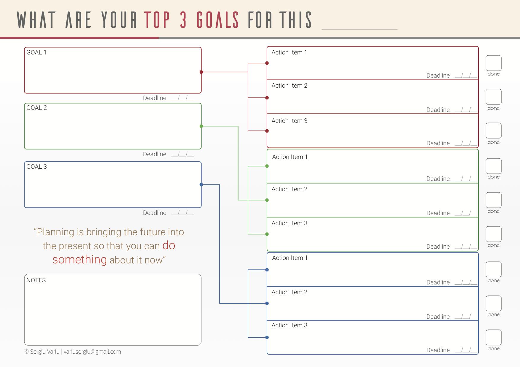 Best blogging tools: Focus Planner