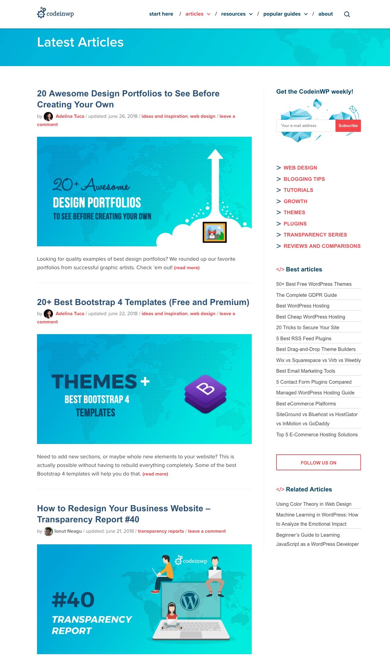Homepage - the no.1 of your blog pages