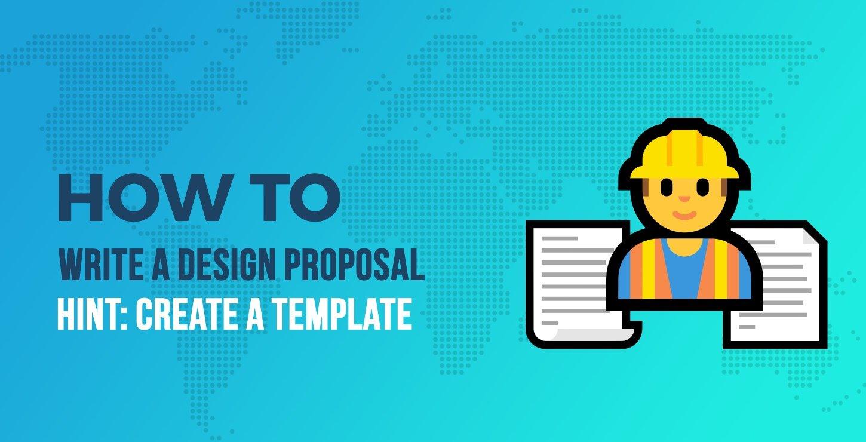 write web design proposal template