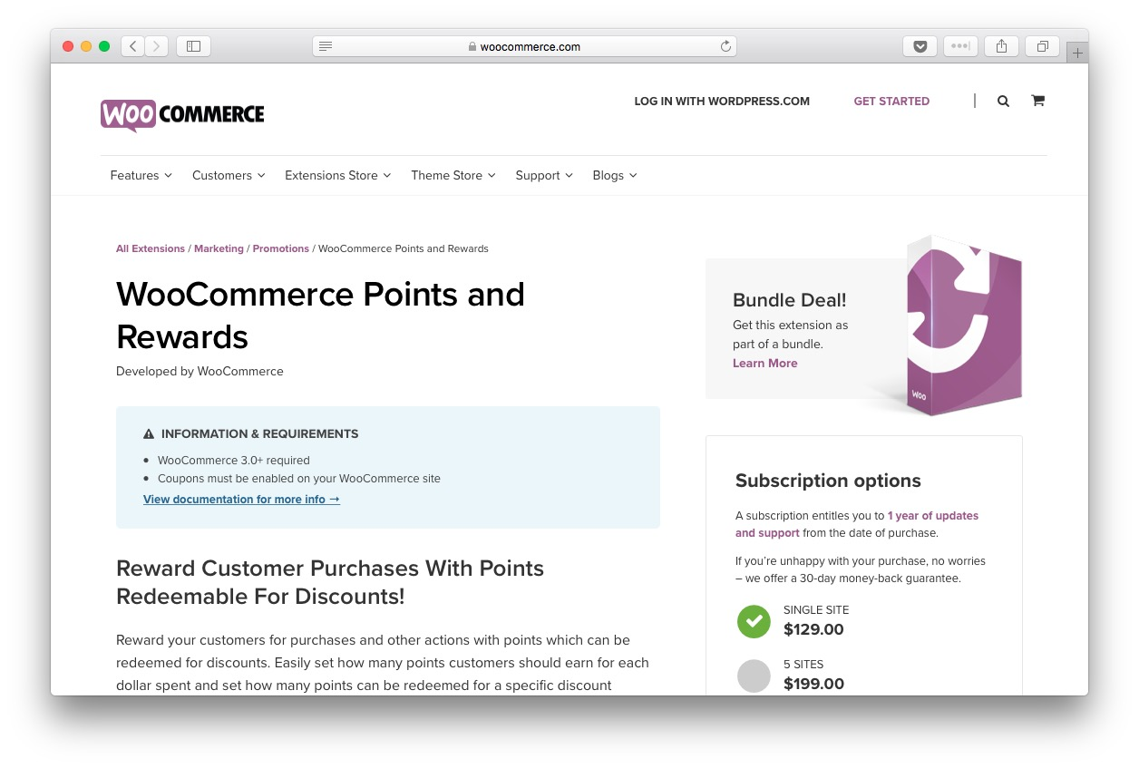 WooCommerce Points and Rewards